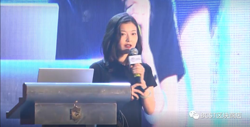 Elena giving a speech at Global Blockchain and Financial Summit Forum in Bangkok